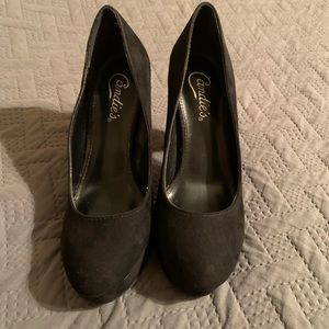 Candie's Black High-Heeled Shoes